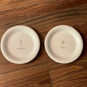 Set of 2 Williams Sonoma appetizer plates